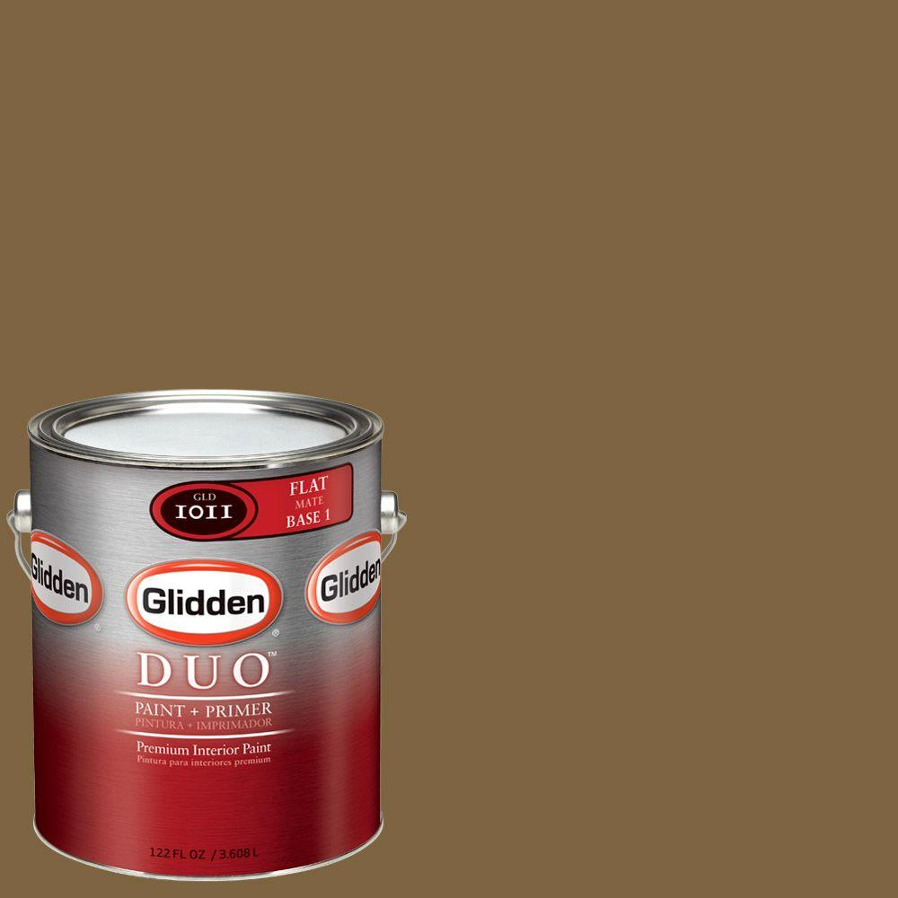 1-gal. #NFL-181B NFL San Francisco 49ers Gold Flat Interior Paint and