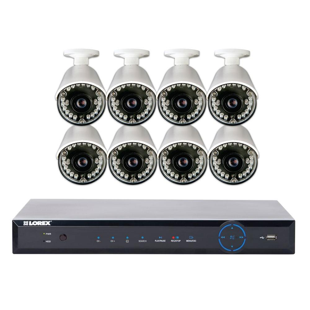 Lorex 16-Channel 960H Surveillance System with 2 TB HDD and (8) 700 TVL Cameras