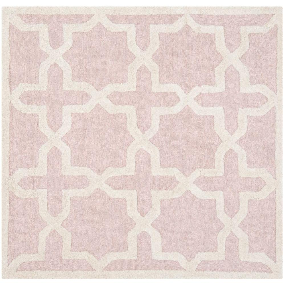 Safavieh Cambridge Light Pink/Ivory 6 ft. x 6 ft. Square Area Rug