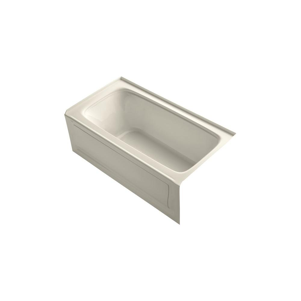 Bancroft VibrAcoustic 5 ft. Right Drain Soaking Tub in Almond