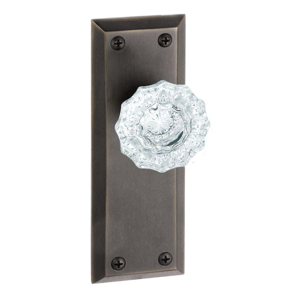 Grandeur Fifth Avenue Timeless Bronze Plate with Dummy Versailles Crystal Knob