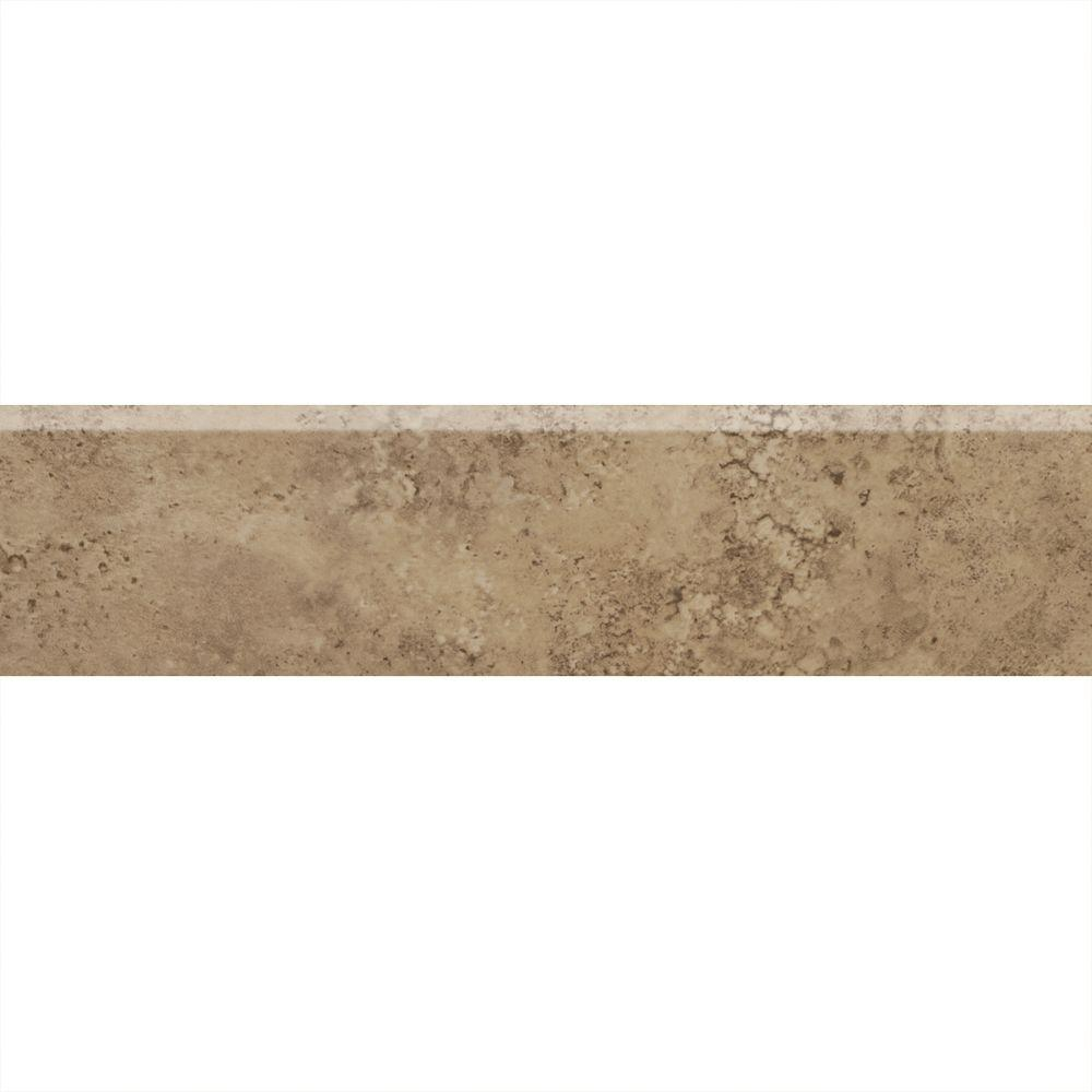 Daltile Alessi Noce 3 in. x 13 in. Glazed Porcelain Bullnose Floor and Wall Tile