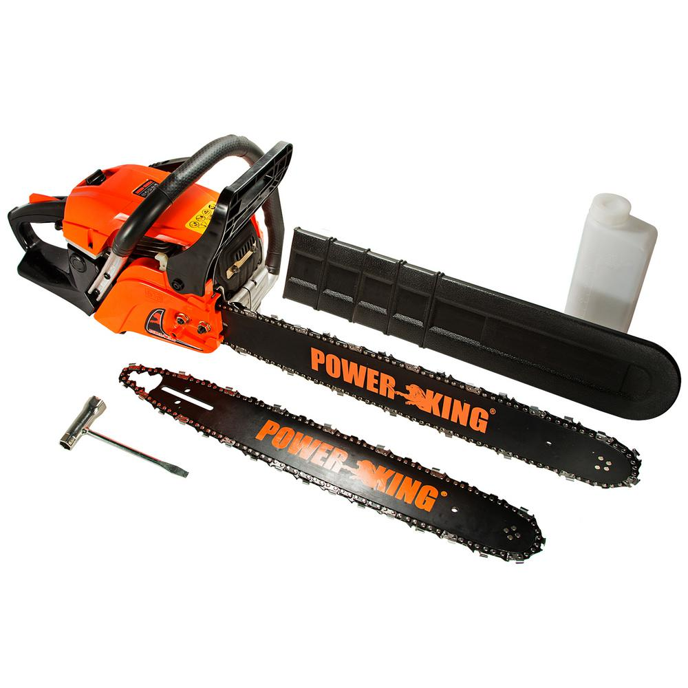 22 in. and 18 in. 57cc Heavy Duty Gas Chainsaw Combo,