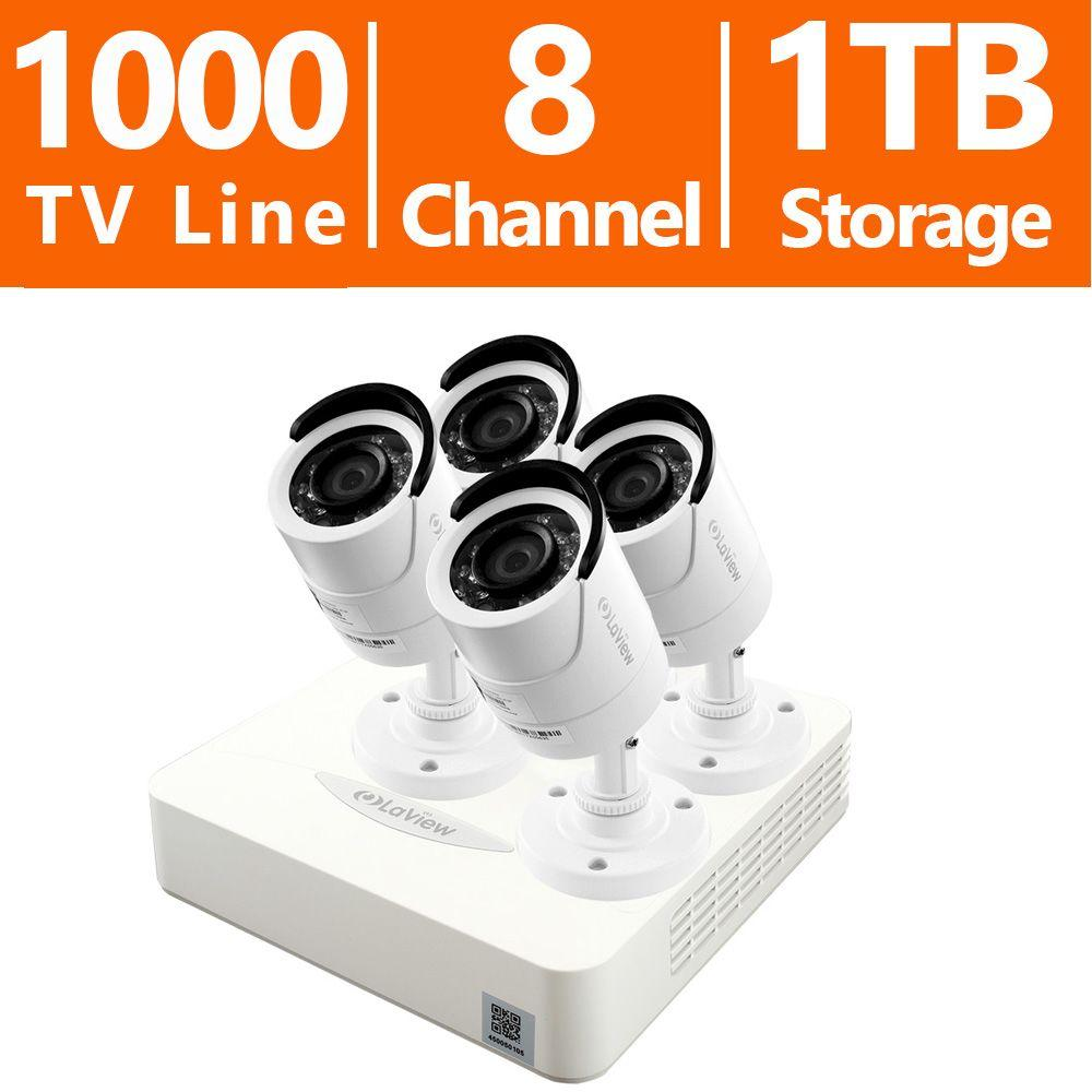 LaView 8-Channel 960H Surveillance System with 1TB HDD and (4) 1.3MP