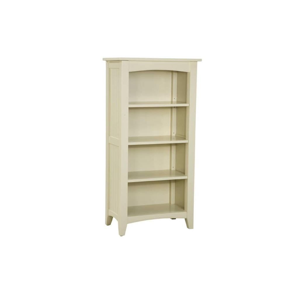 Alaterre Furniture Shaker Cottage 3-Shelf Tall Bookcase in Sand-ASCA08SA - The