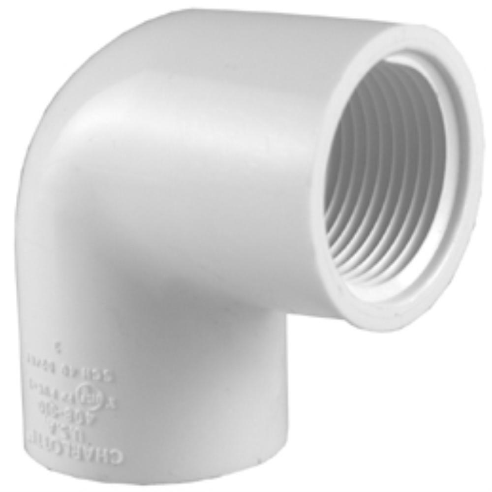 Charlotte Pipe 1/2 in. PVC Sch. 40 90-Degree FPT x FPT