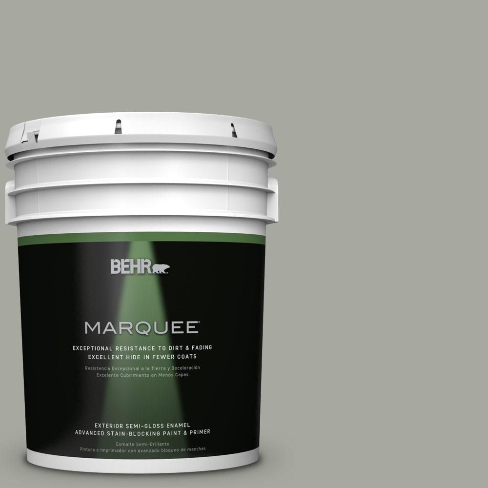 5 gal. #PPU25-05 Old Celadon Semi-Gloss Enamel Exterior Paint