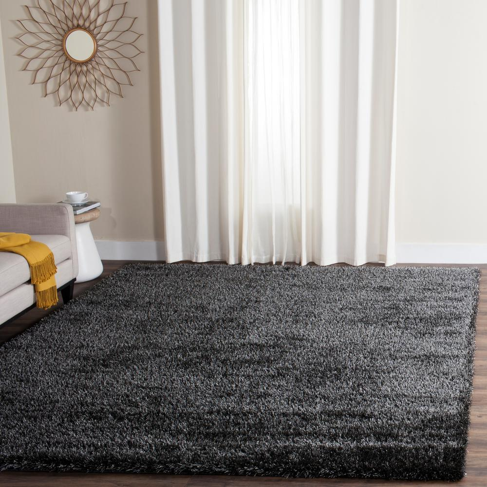 Charlotte Shag Charcoal 8 ft. x 10 ft. Area Rug