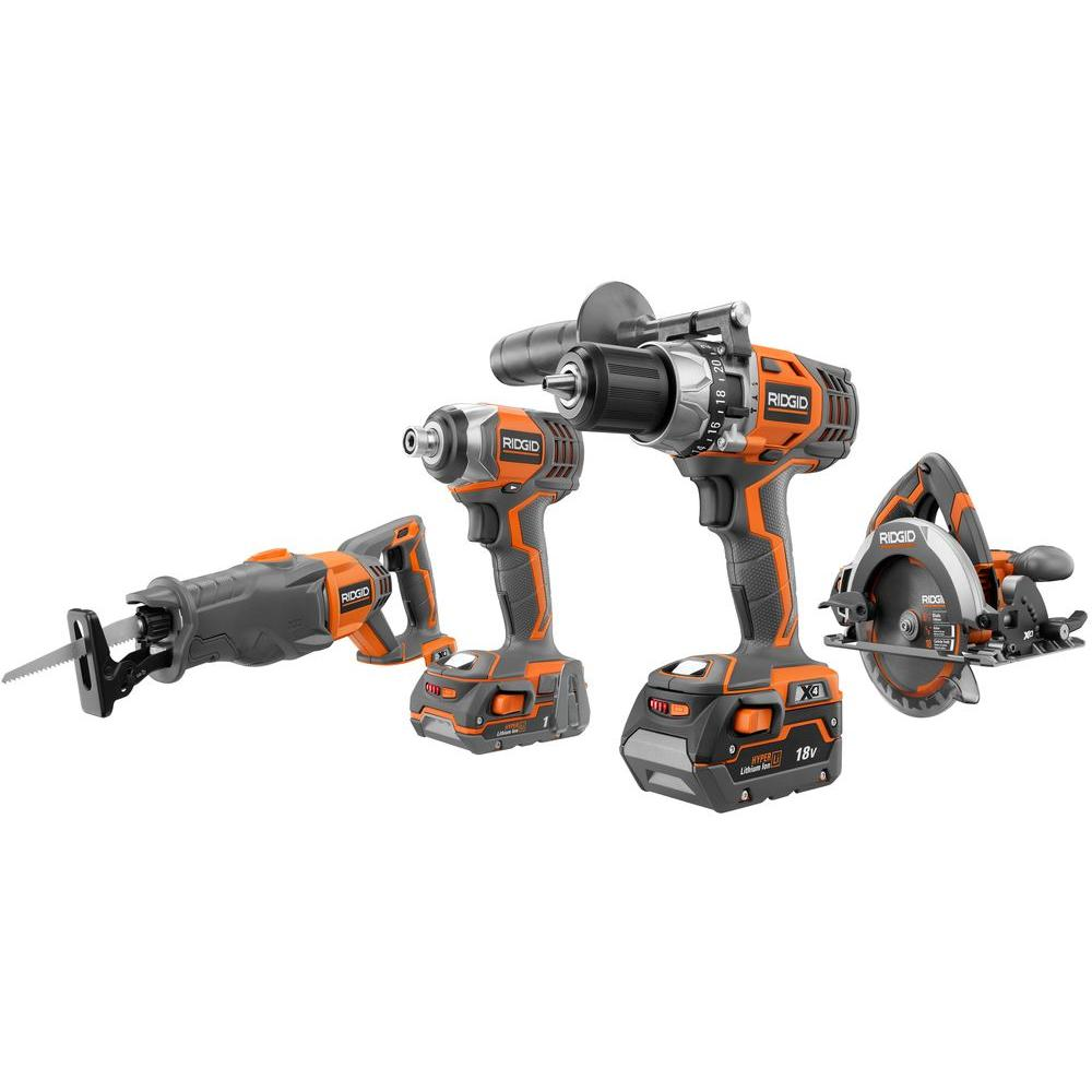 18-Volt Hyper Lithium-Ion Combo Kit (4-Tool)
