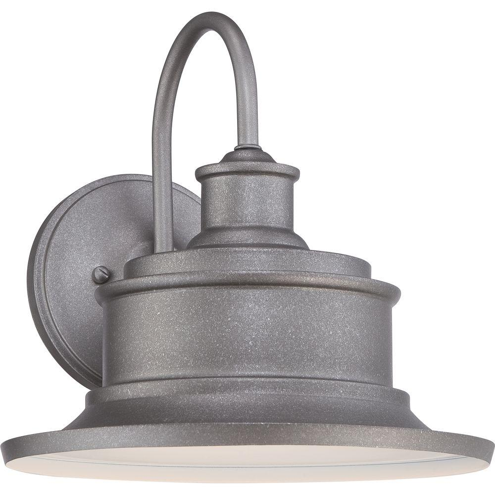 Home Decorators Collection Seaford Galvanized Outdoor Sconce