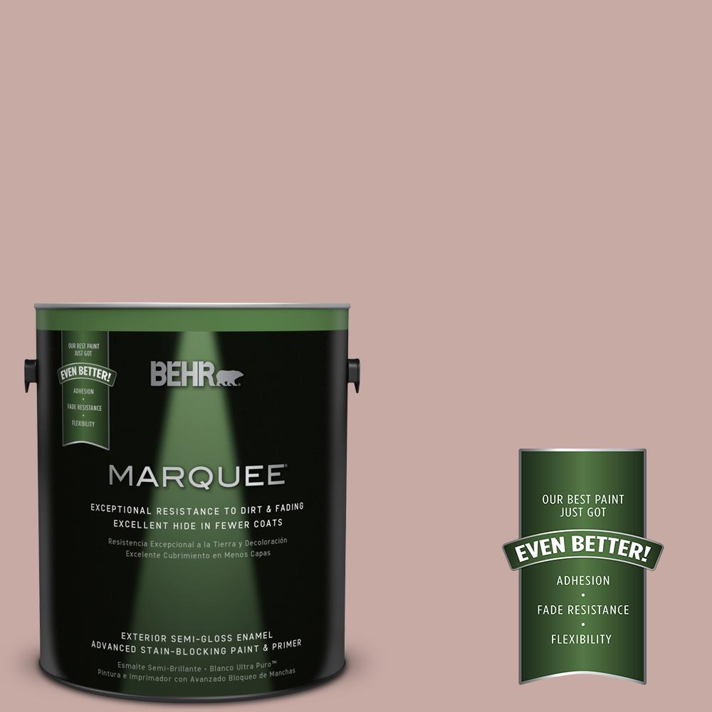 BEHR MARQUEE 1-gal. #700A-3 Pottery Clay Semi-Gloss Enamel Exterior Paint