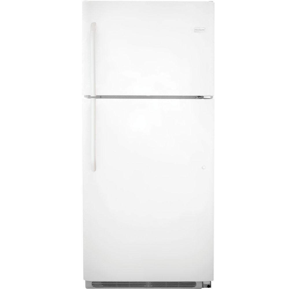 frigidaire 20 4 cu ft top freezer refrigerator in white fftr2021qw the home depot. Black Bedroom Furniture Sets. Home Design Ideas