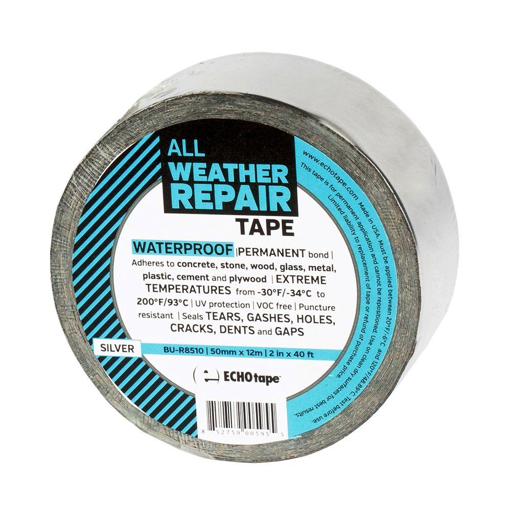 ECHOtape 2 in. x 13.3 yds. Silver All Weather Repair Tape-R8512