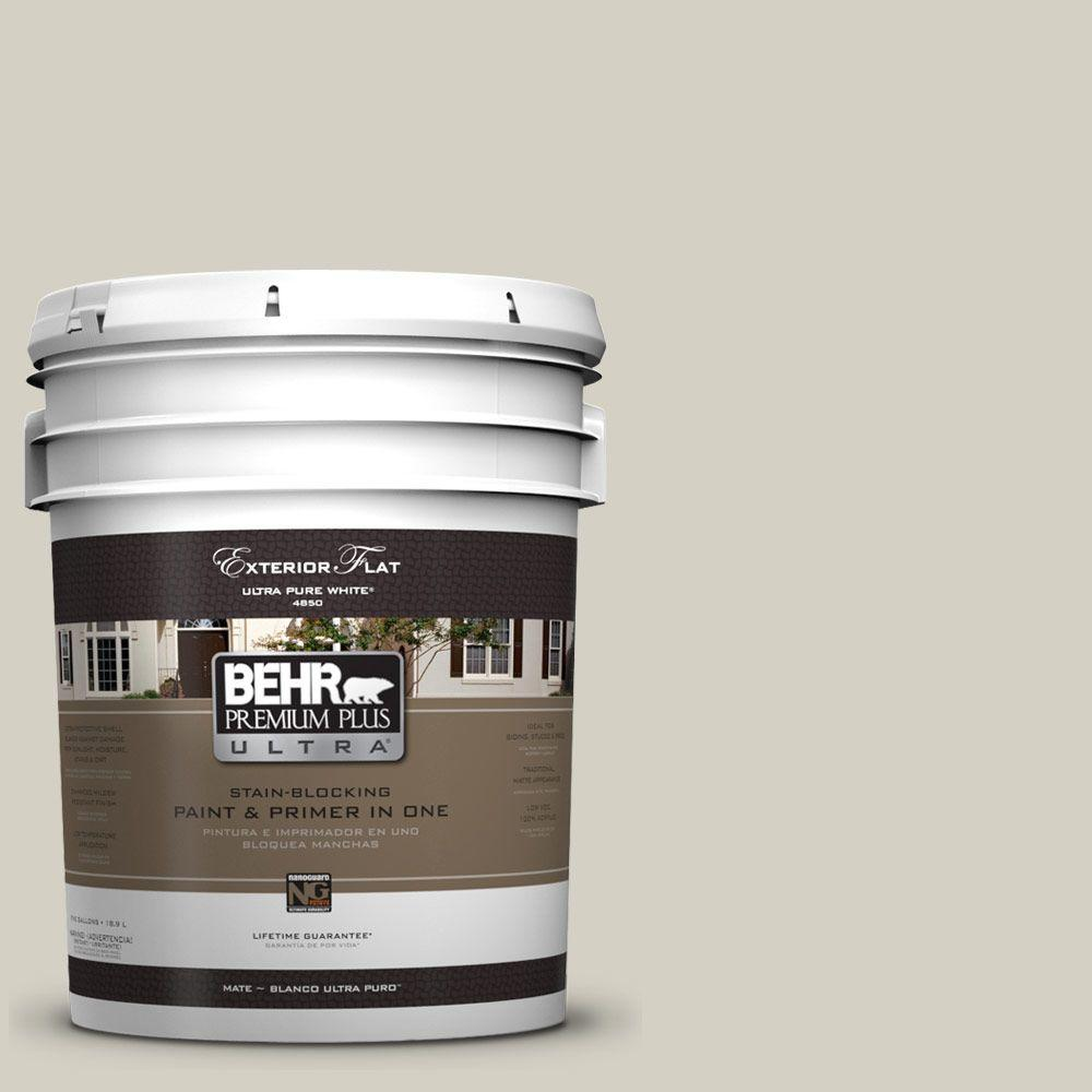 5-gal. #UL190-10 Clay Beige Flat Exterior Paint