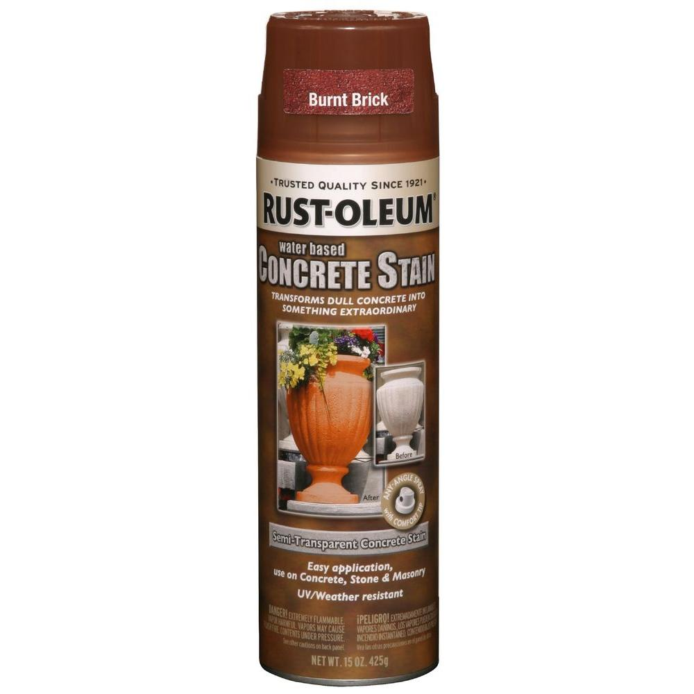 Spray Paint: Rust-Oleum Concrete Stain Finish 15 oz. Burnt Brick Spray (6-Pack) 247129