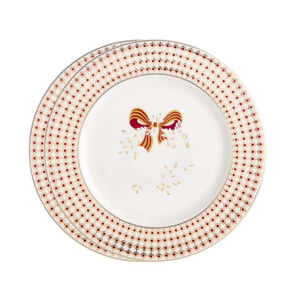 Chantilly Christmas Accent Plates (Set of 2)
