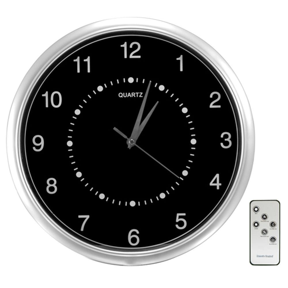 SecurityMan Wall Clock Color Camera with Micro SD Recorder and Remote Control-DISCONTINUED