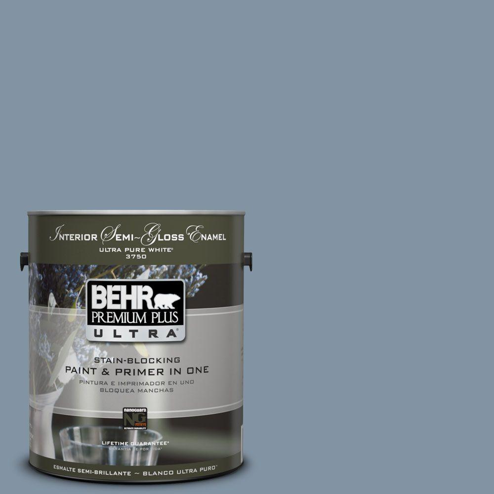 1-gal. #PPU14-6 Coastal Vista Semi-Gloss Enamel Interior Paint