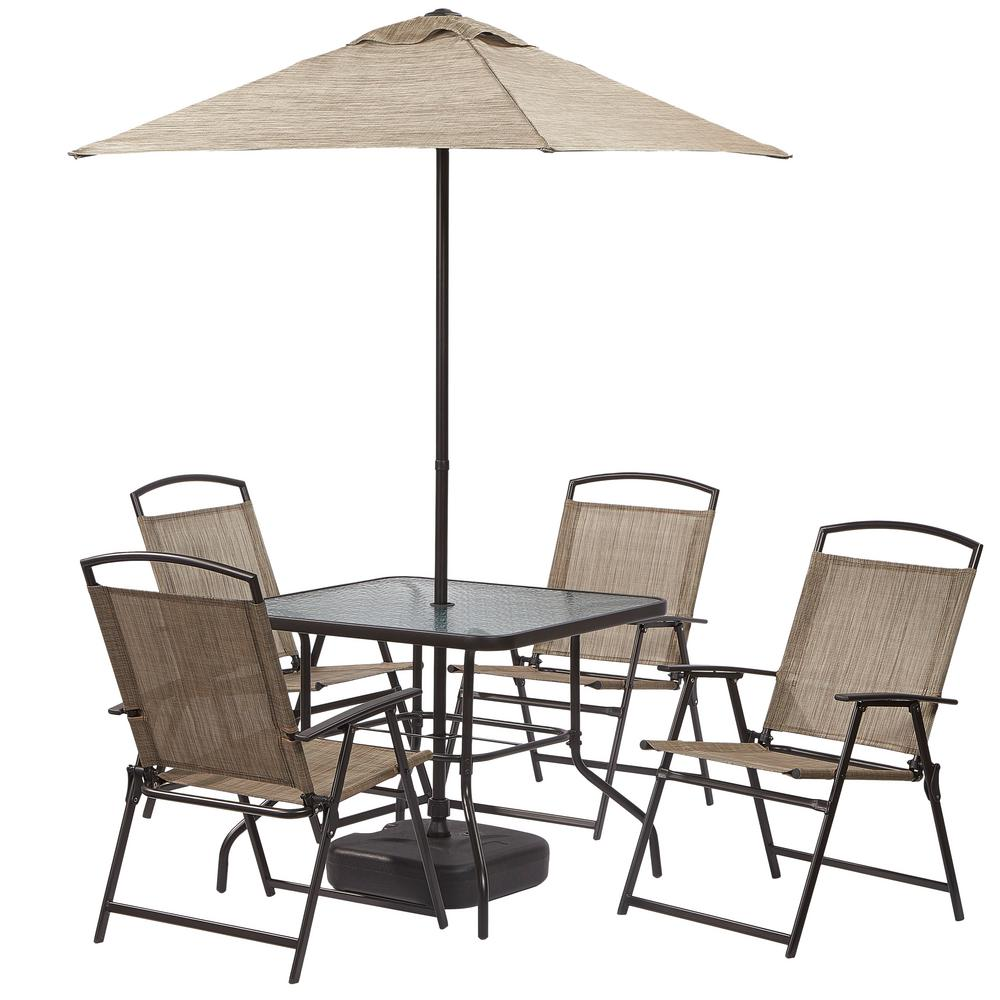 Hampton bay 7 piece patio dining set fds50285 st 2 the for Jardin 8 piece dining set