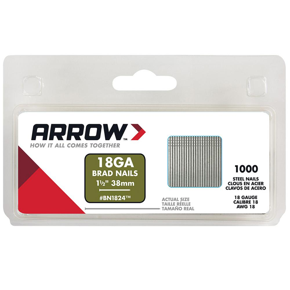 Arrow Fastener 1-1/2 in. Brad Nails (1000-Pack)