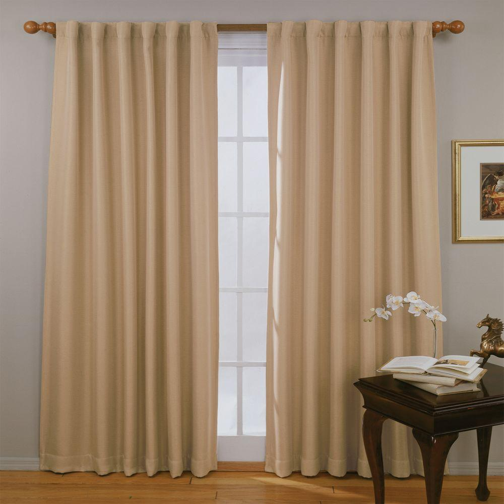 Blackout Fresno Blackout Wheat Polyester Curtain Panel, 84 in. Length (Price