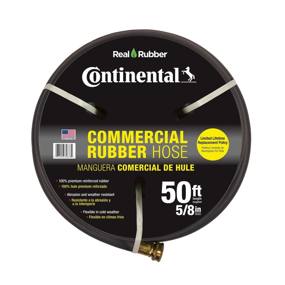 Premium 5/8 in. Dia x 50 ft. Commercial Grade Rubber Black