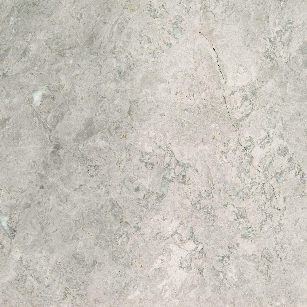 MS International Tundra Gray 18 in. x 18 in. Polished Marble Floor and Wall Tile (9 sq. ft. / case)