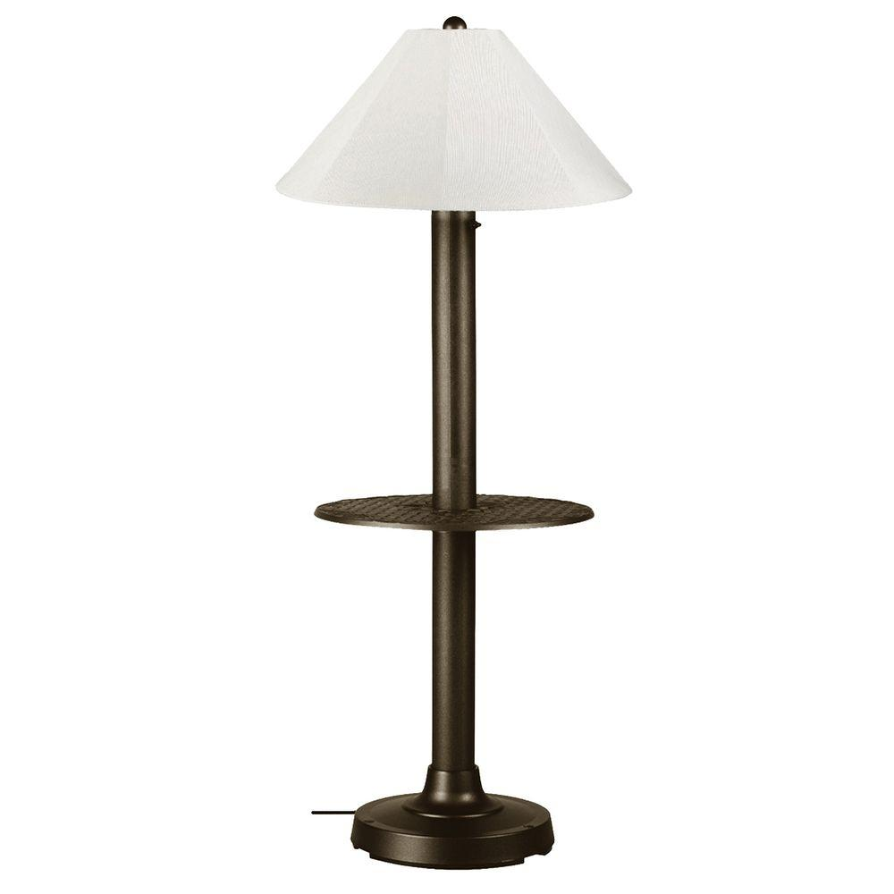 tanglewood 58 in bronze outdoor floor lamp 32220brz the home depot. Black Bedroom Furniture Sets. Home Design Ideas