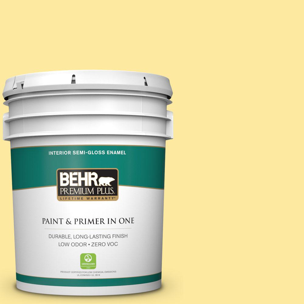 5-gal. #P300-4 Rise and Shine Semi-Gloss Enamel Interior Paint