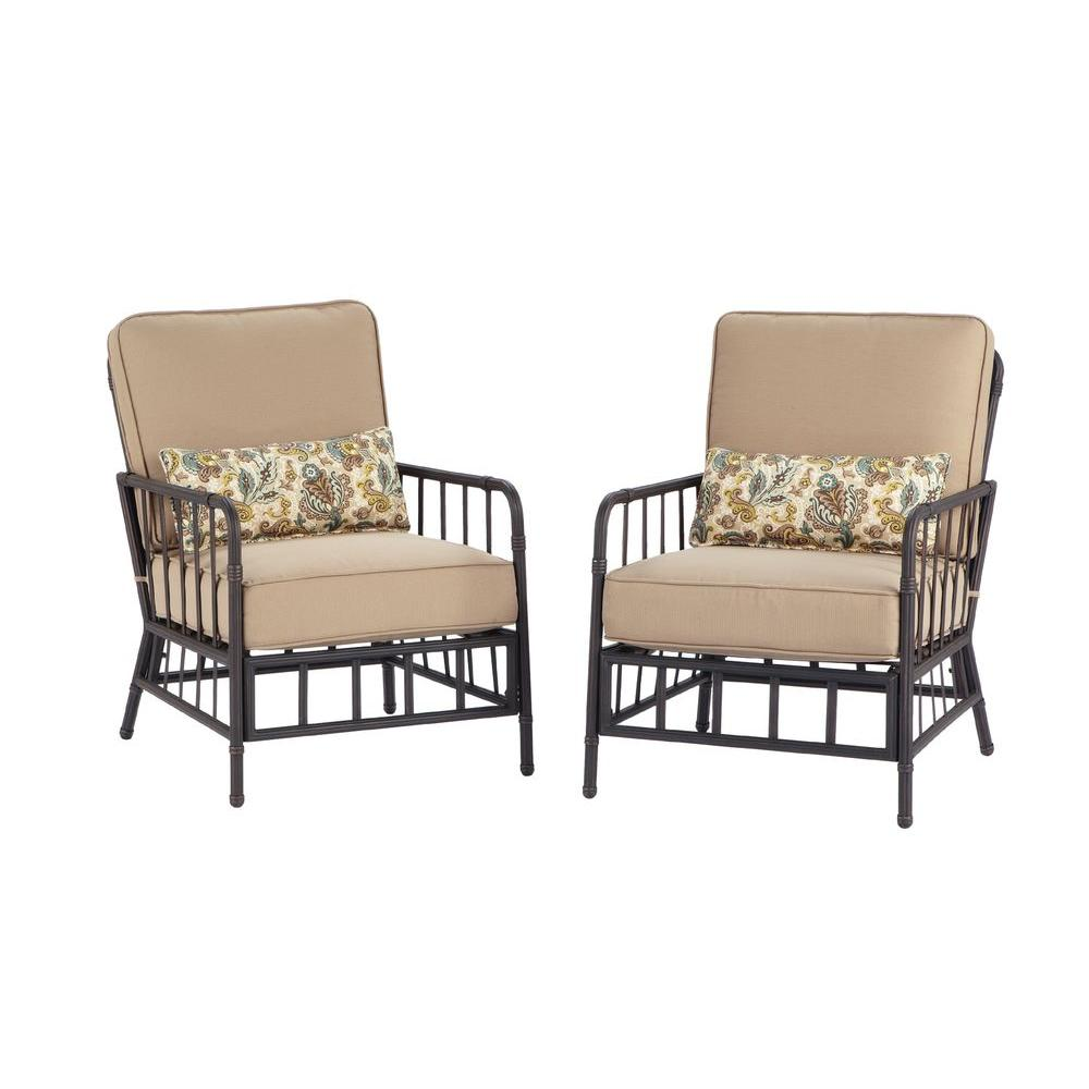 Martha Stewart Living Bryant Cove Patio Lounge Chair 2 Pack Dybc L The Home Depot