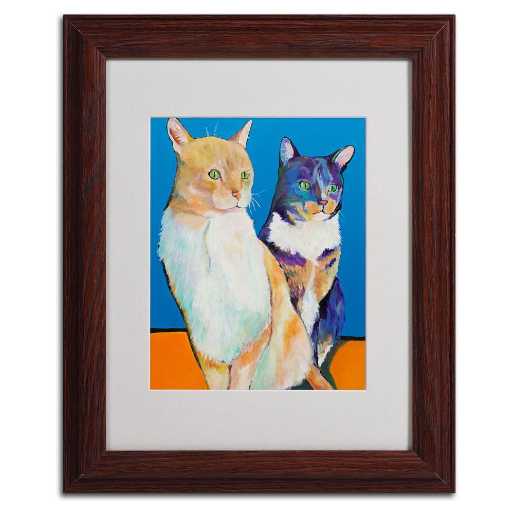 11 in. x 14 in. Dos Amores Matted Framed Art