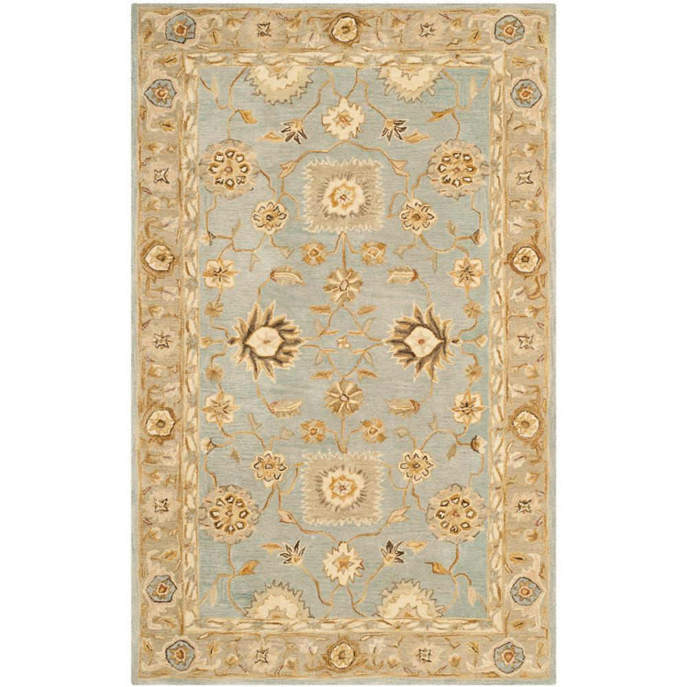 Anatolia Light Blue/Sage 4 ft. x 6 ft. Area Rug
