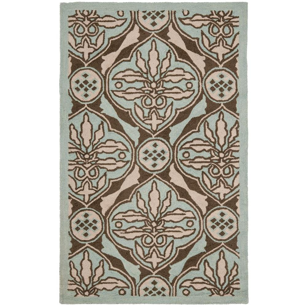 Chelsea Brown/Blue 2 ft. 6 in. x 4 ft. Area Rug