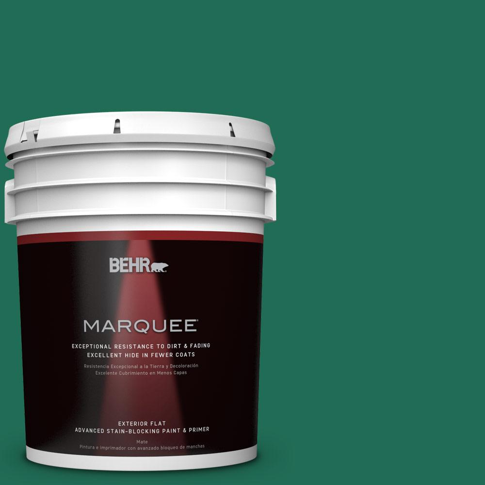 BEHR MARQUEE 5-gal. #P430-7 Sparkling Emerald Flat Exterior Paint-445305 - The