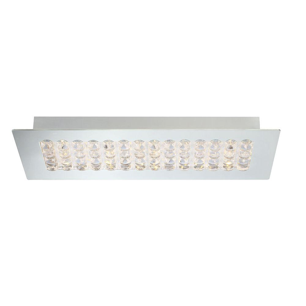Denso Collection 1-Light Chrome LED Rectangular Surface Mount