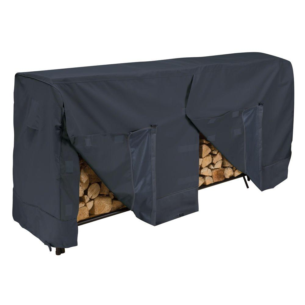 Classic Accessories 8 ft. Firewood Rack Cover-5206903040100 - The Home Depot