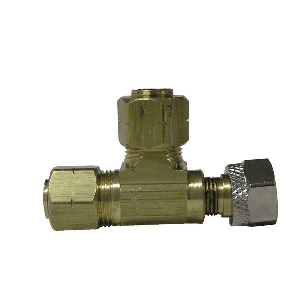 Sioux Chief 3/8 in. x 3/8 in. x 3/8 in. Lead-Free Brass Compression Adapt-A-Valve