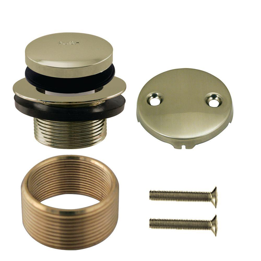 Universal Tip-Toe Trim Kit with 2-Hole Overflow Cover with Adapter Ring,
