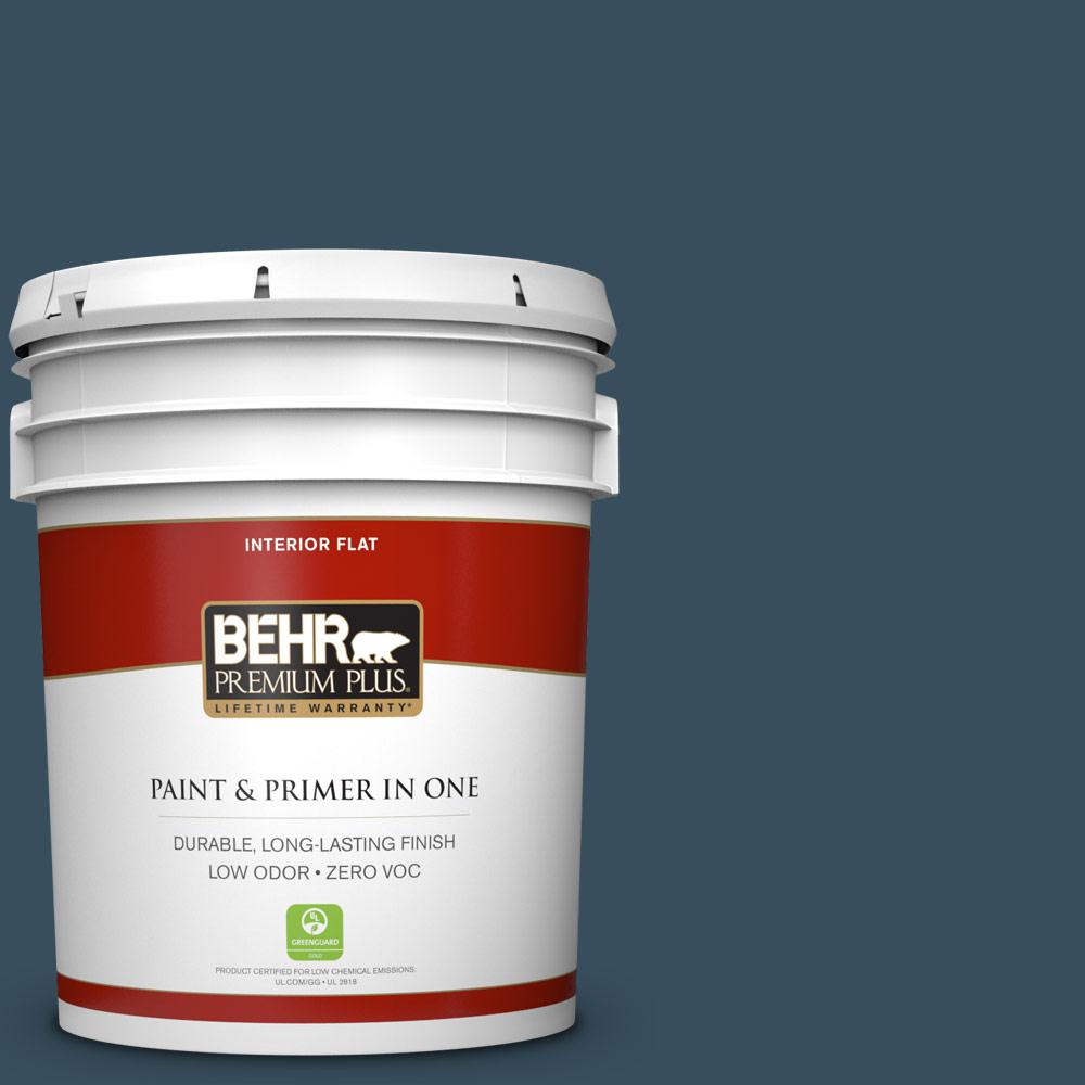 5 gal. #PPU13-20 Restless Sea Zero VOC Flat Interior Paint