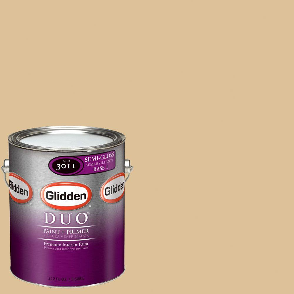 Glidden DUO Martha Stewart Living 1-gal. #MSL077-01S Shortbread Semi-Gloss Interior Paint with Primer-DISCONTINUED