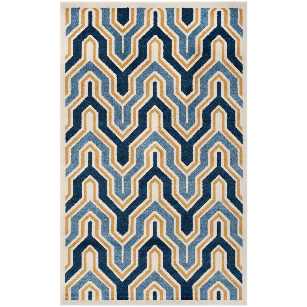 Amherst Ivory/Gold 5 ft. x 8 ft. Indoor/Outdoor Area Rug