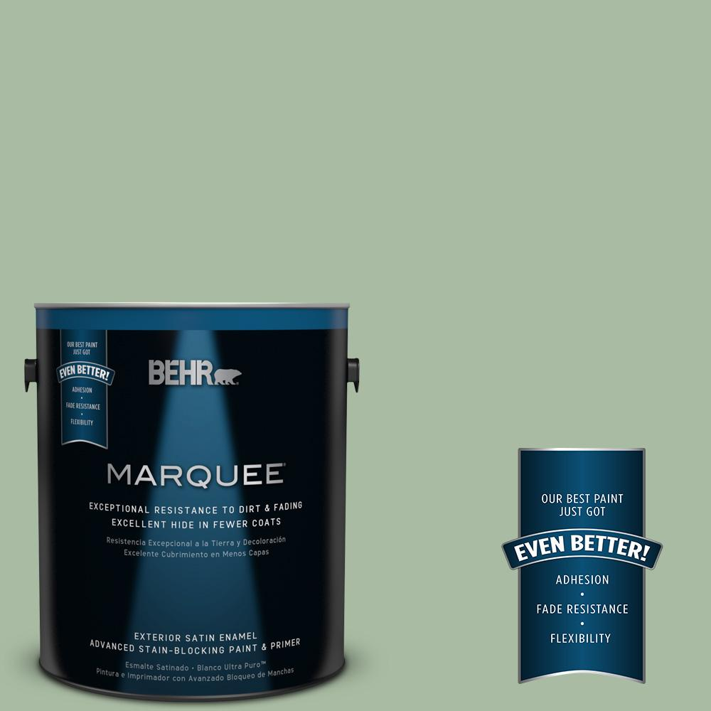 BEHR MARQUEE 1 gal. #T17-07 Balanced Satin Enamel Exterior Paint-945401 -