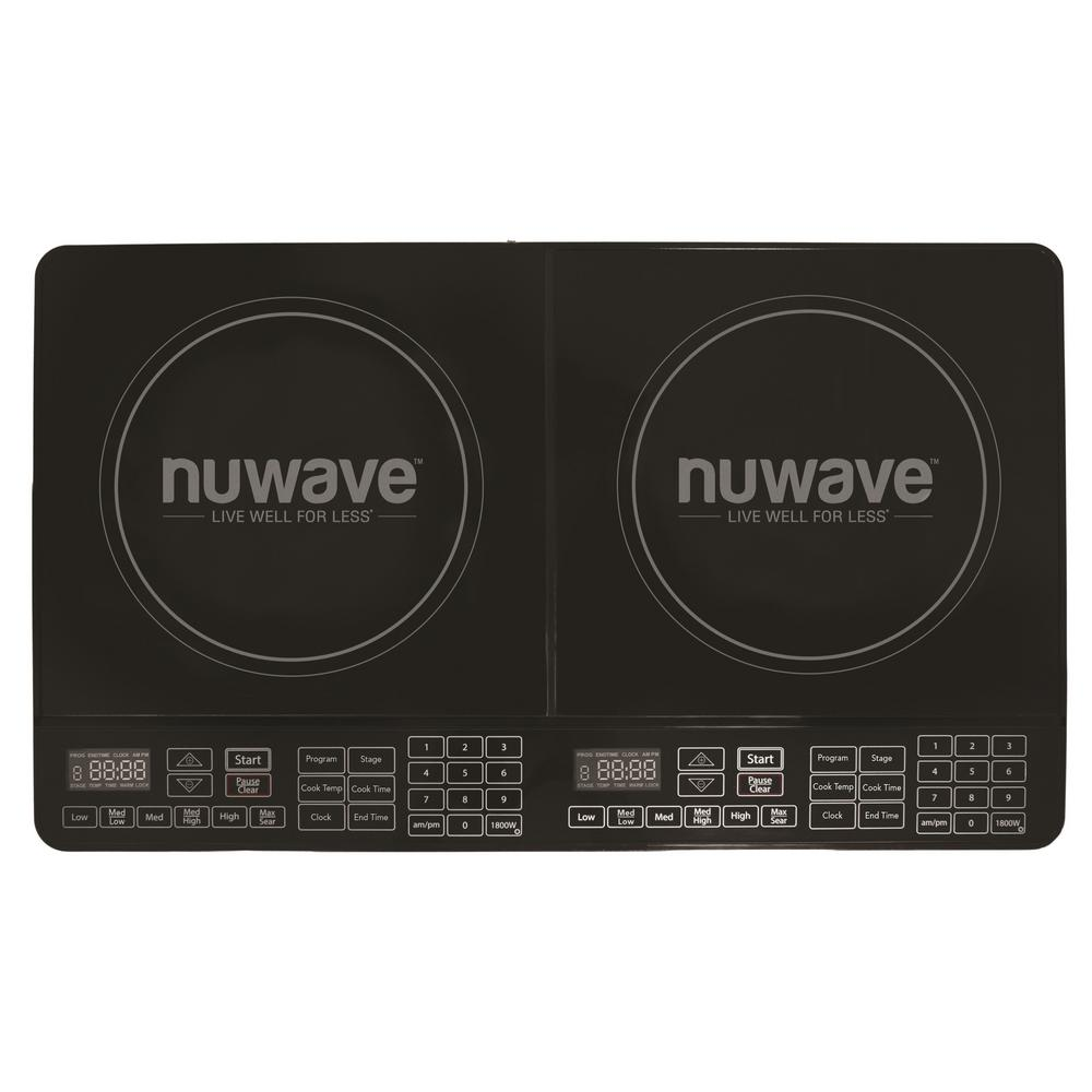 NuWave 25 in. Double Precision Induction Cooktop in Black