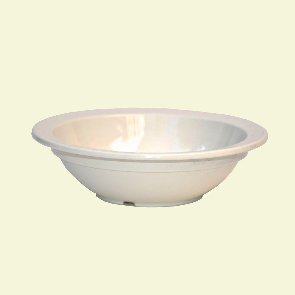 3.5 in. Diameter, 5 oz. Polycarbonate Commercial Rimmed Fruit Bowl in White (Case of 48)
