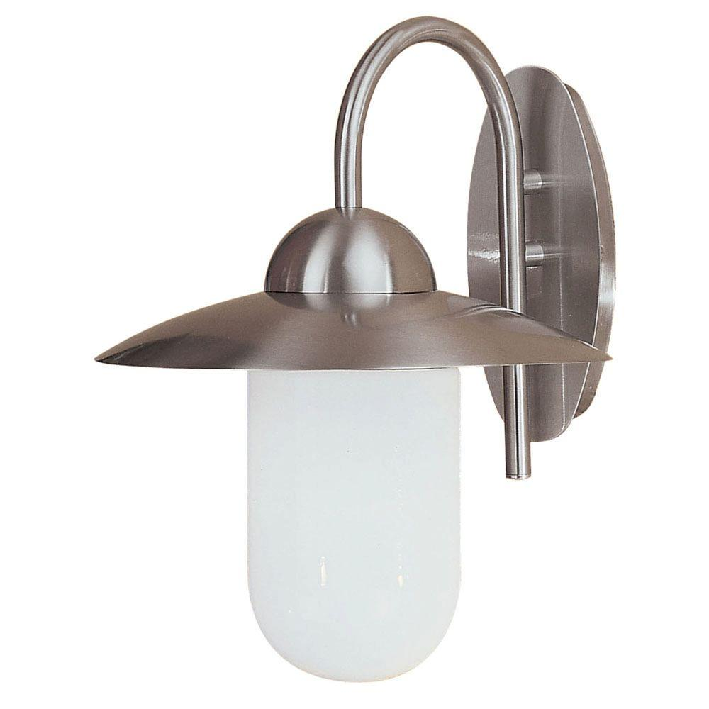 Eglo Milton 1-Light Outdoor Stainless Steel Wall Light-DISCONTINUED