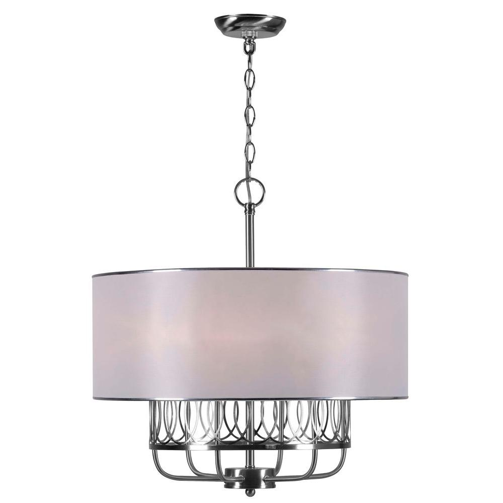World Imports Venn 6-Light Brushed Nickel Chandelier-WI907737 - The Home Depot