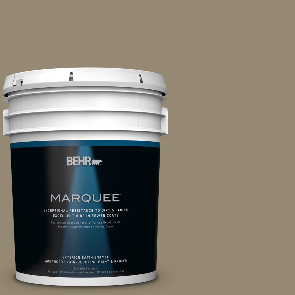BEHR MARQUEE 5-gal. #PPU8-3 Dry Pasture Satin Enamel Exterior Paint