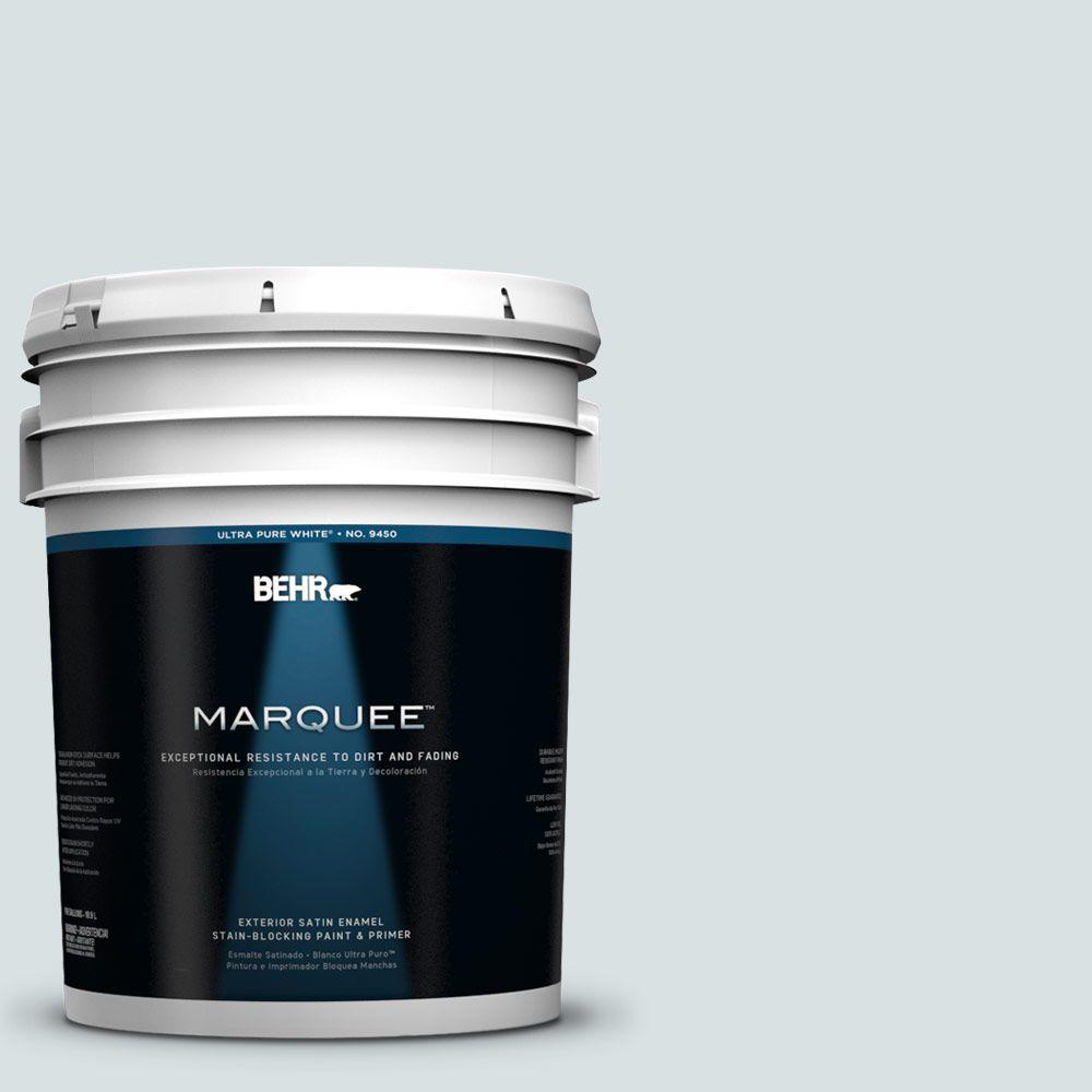 BEHR MARQUEE 5-gal. #730E-2 Sparkling Spring Satin Enamel Exterior Paint