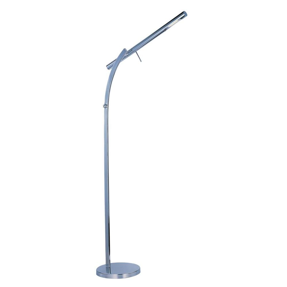 Filament Design Coit 50.5 in. Polished Chrome LED Floor Lamp