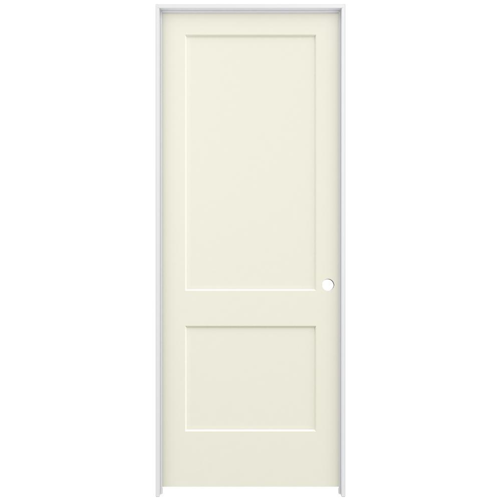 Jeld Wen 36 In X 96 In Smooth 2 Panel French Vanilla Solid Core Molded Composite Single